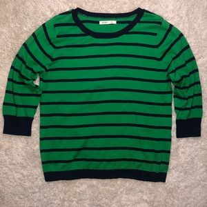 5/$20 Old Navy size xl striped green sweater